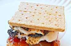 Sandwich-Inspired S'mores - The Peanut Butter & Jelly S'mores are Perfect for the Long We