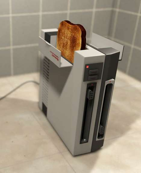 Game Console Cooking Devices - The NES Toaster Crisps Bread While Providing Nostalgia