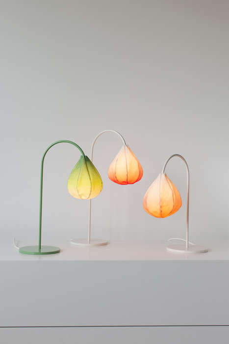Floral Bud Lamps - Bring Spring Indoors with the Kristine Five Melvaer 'Bloom' Series