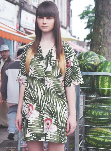 Hipster Hawaiian Editorials - Rebecca Naen Captures Island-Themed Couture