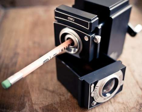 The Vintage Camera Pencil Sharpener is Aesthetically Awesome