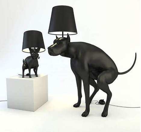 Defecating Doggy Illuminators - The 'Good Boy' Lamp is Shaped Like a Pooping Canine