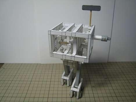 Bipedal Paper Mache Robots