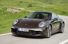 Slimmed-Down Supercars - The 2013 Porsche 911 Carrera 4 is Lighter and Still Offering Bold Style