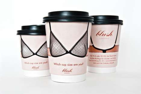 Coffee Container Lingerie Ads - The 'Which Cup Size Are You?' Campaign Covertly Puts Bras on Women