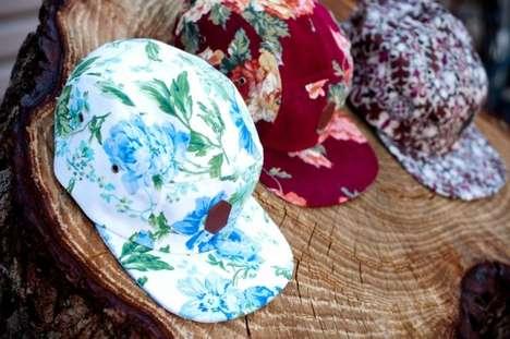 Flower Print Hipster Hats