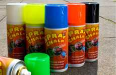 Temporary Graffiti Paint - Spray Chalk Lets You Color Up the Streets With Peace of Mind