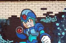 Arcade Hero Graffiti - The Megaman Street Art Puts Up a Fight Against Ugly City Walls