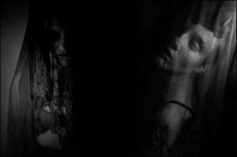 Ghostly All-Black Editorials - The Gallows by Alex London is a Gothic Monochromatic Series