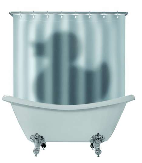 Deceiving Bathtub Drapes - Just Mustard 'Shadow of the Duck' Shower Curtains are Comical