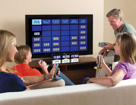 Genuine Game Show Consoles - This Authentic At Home Jeopardy Set is as Real as They Come