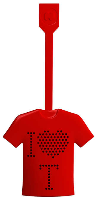 Jersey-Shaped Drink Infusers - The Just Mustard Tea-Shirt Makes Delicious-Flavored Beverages