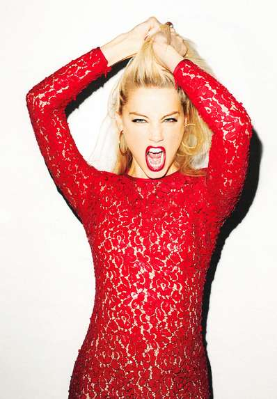 Red-Lipped Bombshell Editorials - Amber Heard for the NY Times T-Magazine Fall Edition is Chic