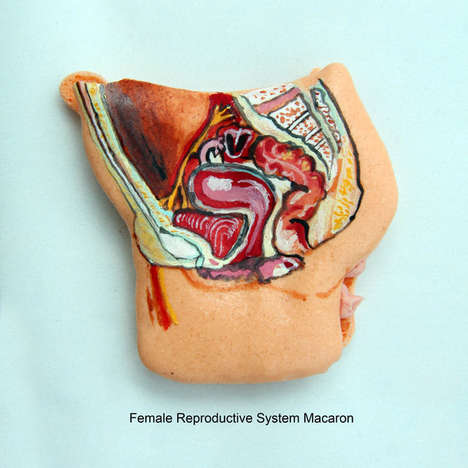 Ornate Organ Confections - These Anatomical Macarons are Not for the Squeamish
