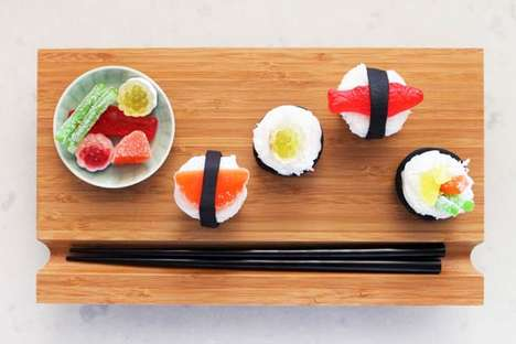 Faux Fishy Desserts - These Sushi Cupcakes by Brit & Co. are Simply Adorable