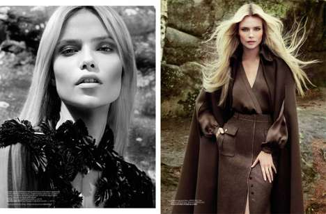 Dapper Capped Cave Couture - Natasha Poly for Vogue Turkey Recreates Robin Hood