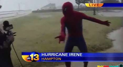Hilarious Extreme Weather Clips - The Ultimate Hurricane Reporter Fails Compilation is Amusing