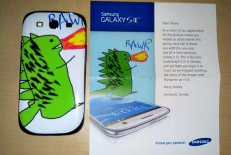 Viral Customer Service - The Samsung Custom Dragon Phone Turns Heads