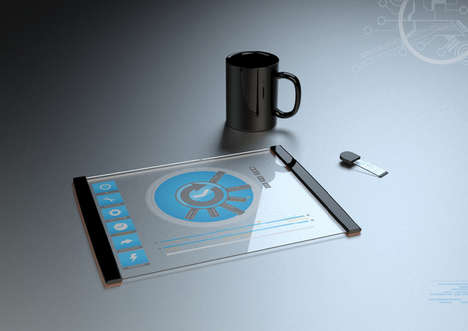 Clear Collapsible Computers - The Thomas Laenner Transparent Tablet Concept is Stunning