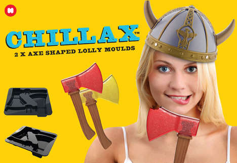 Axe-Shaped Lollipops - The Just Mustard Chillax Moulds are Incredibly Surreal
