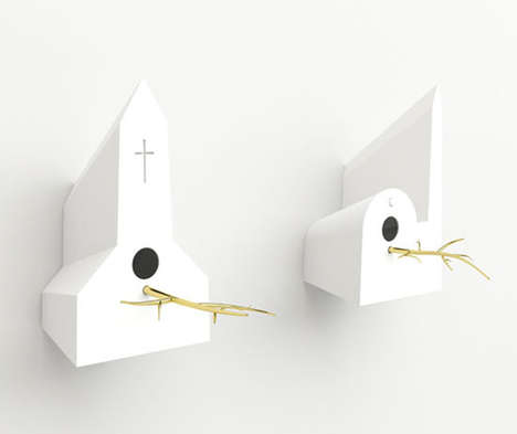 Religious Building Birdhouses - Even Birds are Spiritual in the Frederik Roije 'Holy Homes' Series