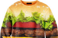 Burger Sweaters - This Hamburger Sweater by Mr Gugu and Miss Go Looks Realistic