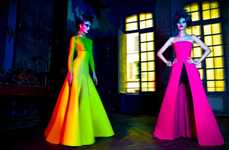 Neon Frankenstein Gowns
