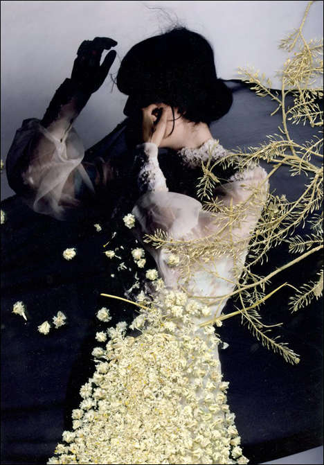 Foliage Fashion Polaroids - Fragments by Chelsea Wolfe is Covered in Dried Flowers