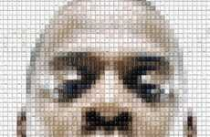 Celeb Mosaic Artwork - The Deviantart Keyboard Key Portraits are Awesome