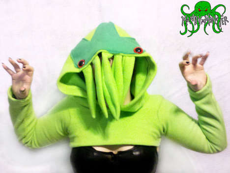 Cropped Tentacle Monster Hoodies - The Cthulhu Cosplay Shrug Shirt is Both Humorous and Horrific