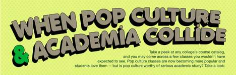 Liberal Academic Argument Graphics - The Pop Culture and Academia Infographic Discusses Merit