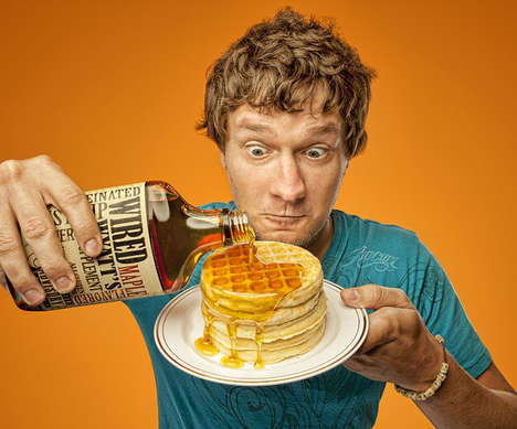 Energy-Packed Condiments - Kickstart Your Morning with Wired Wyatt's Caffeinated Maple Syrup