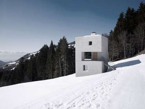 Cubed Ivory HillsideTowers - The Mountain Cabin by Marte Marte Architecture is the Perfect Retreat