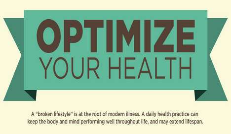 Holistic Lifestyle Graphics - The Optimize Your Health Infographic Promotes Wellness