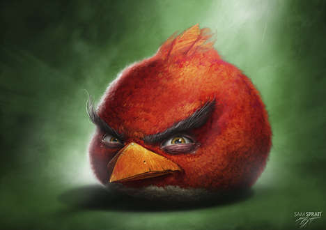 Realistic Avian App Renderings - Sam Spratt Illustrates Lifelike Versions of Angry Birds Characters