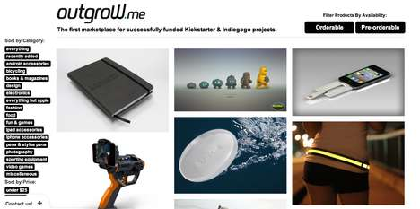 Curated Crowdfunded Marketplaces - Outgrow.me Offers Consumers Kickstarter & Indiegogo Products