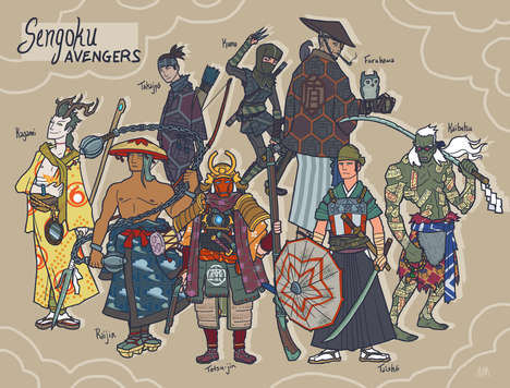 Ancient Asian Avenger Art - Alex Mitchell Re-Imagines Marvel Superheroes as Samurai Anime Characters