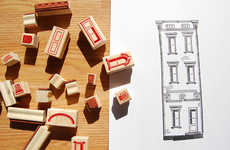 Architectural Stationery Sets - Paper Neighborhood Stamps Let You Draft Facades Modularly with Ink