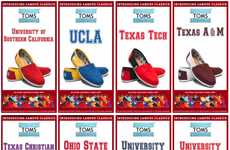 Collegiate-Inspired Slip-on Sneakers - The TOMS Shoes Campus Collection Is Game Day Ready