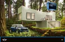 Luxe Camp Car Ads - The Mini Cooper Countryman Campaign Alludes to the Vehicle's Spaciousness