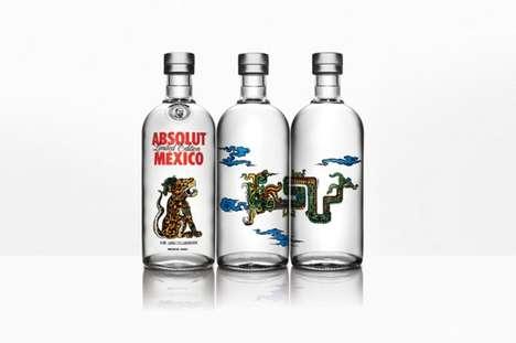 Tattoo-Inspired Vodka Bottles