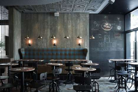 Eclectically Retro Eateries - The Matto Bar and Pizzeria is Cozy and Rustic
