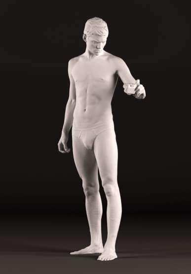 Marble-Immortalized Top Models - Sebastian Sauvé Becomes a Modern-Day Michelangelo's 'Dav