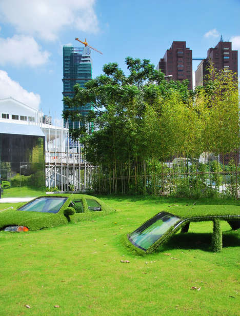 The Grass Covered Cars at the CMP Block in Taiwan are Beautiful