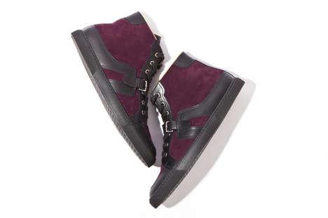 Pricey Purple Suede Sneakers