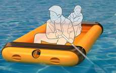 Inflatable On-Board Rafts - The Extendable Lifeboat Compactly Enhances Your Watercraft Safety