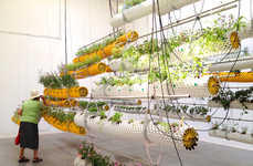 Suspended Tubular Planters - Al Aire by SelgasCano Demonstrates the Growth of Agricultural Tech