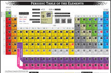 Scan-Coded Chemistry Charts - Artist Yiying Lu Gives the Periodic Table a QR Code Upgrade