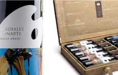 Artistic Beverage Branding - Malaga Conarte Wine Packaging Was Inspired by the Artist's Palette