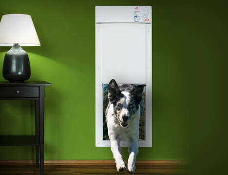 Hi-Tech Dog Entryways - The Pet Door PX-1 Opens Automatically When Collar is in Range